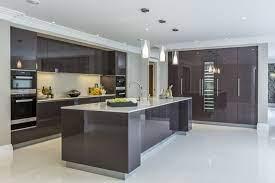 Extreme Contemporary Minimal High Gloss Kitchen Design In Private Mansion Modern Kitchen Design Luxury Kitchens Contemporary Kitchen Design