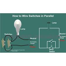 how to wire switches in parallel circuit diagram image