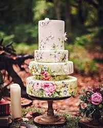Hand Painted Vintage Wedding Cake Ideas Oh Best Day Ever