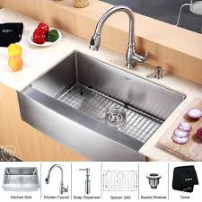 kraus farmhouse sink discontinued inch farmhouse single bowl stainless steel kitchen sink with kitchen faucet and soap kraus farmhouse sink 33