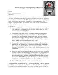 stranger paper lab research methods in psychology