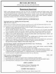 Retail Manag Cute Resume Sample For Store Manager Free Career