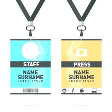Event Badge Template Lanyard Badge Template