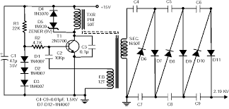 high voltage circuit diagram the wiring diagram kv high voltage generator circuit 2n3700 circuit diagram