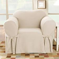 sure fit cotton duck chair slipcover natural sf26806