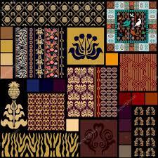 Creatieve Set Naadloos Behang En Tegel Art Deco Collectie