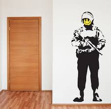 banksy style acid soldier wall art sticker decal banksy banksy with regard to banksy style wall art intended for your own home on banksy wall art sticker with banksy style acid soldier wall art sticker decal banksy banksy with