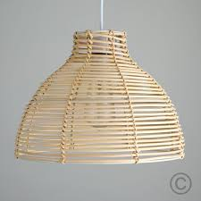 Contemporary Ceiling Light Shades Modern Wicker Basket Style Ceiling Pendant Light Shade In A