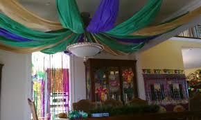 holiday decor prettyeasyliving com mardi gras ceiling tablecloth
