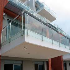 steel balcony glass railing