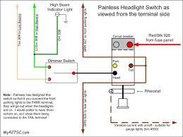 headlight dimmer switch wiring diagram painless headlight switch Light Switch Wiring Diagram For Dimmer headlight dimmer switch wiring diagram painless headlight switch as viewed from the terminal side high beam indicator light wiring diagram for light dimmer switch