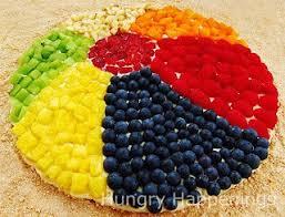 Beach ball on beach Gigantic Fruit Pizza Beach Ball Hungry Happenings Fruit Pizza Beach Ball Fun Beach Themed Summer Recipes