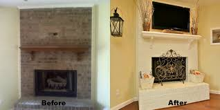 our house a before after fireplace reveal