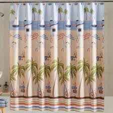 catching rays fabric shower curtain home chair palm trees mainstays original new