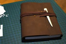 making a leather bound journal leather