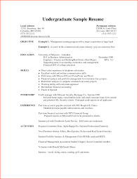 Undergraduate College Resume Examples Undergraduate Resume Examples Examples of Resumes 2