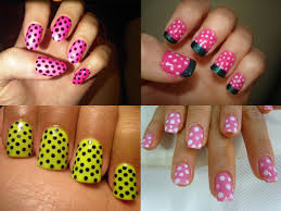 Nail paint designs simple - how you can do it at home. Pictures ...