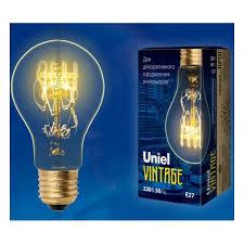 <b>Лампа</b> накаливания <b>Uniel IL</b>-<b>V</b>-<b>A60</b>-<b>60</b>/<b>GOLDEN</b>/<b>E27 SW01</b> ...