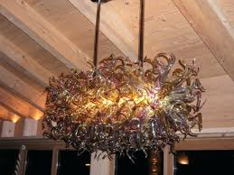 round glass ball chandelier cascading glass bubble