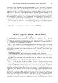 Rethinking The Etruscan Atrium House Vincent Jolivet Tristes