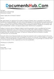 Research Assistant Cover Letter Website Picture Gallery Graduate ...