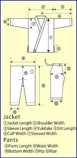 Karate Uniform Size Chart Karate Uniform From Japan Karategi Wear Clothes Manufacturer