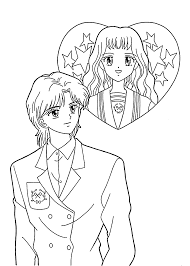 Small Picture Girl And Boy Coloring Page Coloring Home