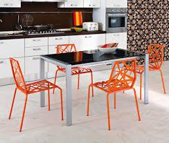 exclusive inspiration orange kitchen chairs fresh color contemporary desjar interior