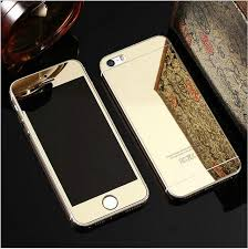 iphone 7 gold front. rose gold front + back mirror 9h tempered glass film cover for iphone 7 plus screen iphone