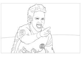 Neymar Jr Free Colouring Pages