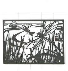 outdoor wall metal art cut out black metal wall art framed pond scene w outdoor decor outdoor wall metal art