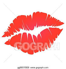 vector stock red kiss clipart