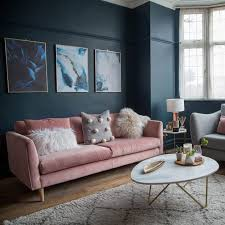 before and after a boring neutral living room gets a glam and dramatic makeover