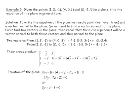 example 6 given the points 1 2 1