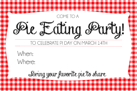 pi day invitation how to host a pie day party printable invites so festive