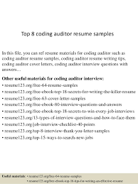 Auditor Resume Sample Best Of Top 24 Coding Auditor Resume Samples