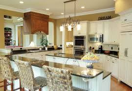 modern off white kitchen. Kitchen:Fabulous Modern Off White Kitchen With Padded Stool Cushions And Raised Bar Table S