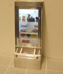 Glass Door Home Refrigerator Elf Glass Door Refrigerator Opening Drawer Elf Miniatures
