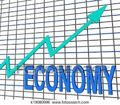 Chart Showing Increase Economy Graph Chart Shows Increase Economic Fiscal Growth