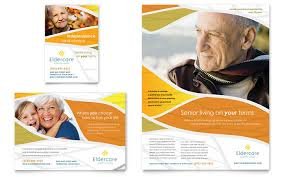Advertising Flyers Samples Assisted Living Flyer Ad Template Design