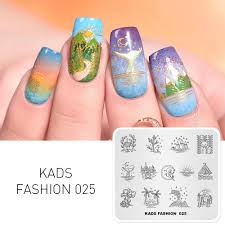 Diy Nail Designs Missguoguo Nail Stamp Template Graceful Town Plants Moon Patterns Diy Nail Designs Stamping Polish Manicure Stamper Plate