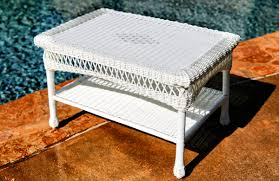perfect white rattan coffee table wicker tables tortuga outdoor