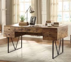 industrial look furniture. Industrial Look Desk W/ 4 Drawers Furniture O