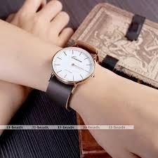 geneva pu leather analog rose gold round case quartz wrist watch geneva pu leather analog rose gold round case