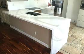 white kitchen with gray countertops waterfall kitchen decoration medium size waterfall edge granite for countertops island with concrete countertop