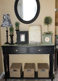 foyer console table and mirror. Black Foyer Table And Mirror Entryway With On Simple Entrance Two Lamps Console E