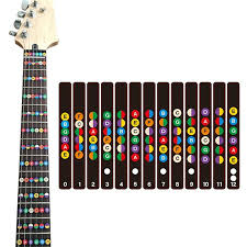 Electric Guitar Note Chart Us 1 63 36 Off Guitar Fretboard Note Decals Fingerboard Sticker Fret Guide Label Finger Chart Practice Fit Violin Finger Guide Acoustic Guitar In
