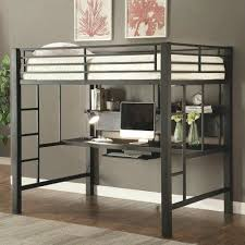 metal bunk bed with desk underneath. Full Loft Bed With Desk Underneath Modern Size Metal Beds For  Adults . Bunk