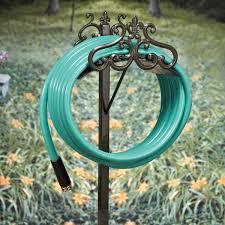 amusing decorative garden hose holder for your garden decoration charming picture of floor standing dark