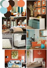 burnt orange and teal living room home design teal and orange living room modern house on
